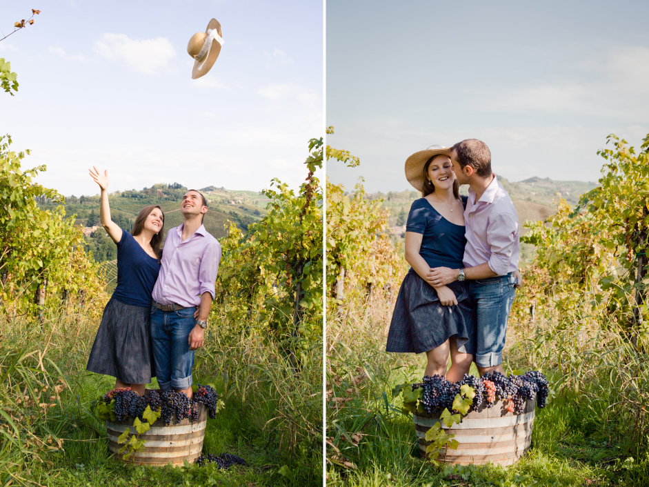 engagement shooting italian countryside