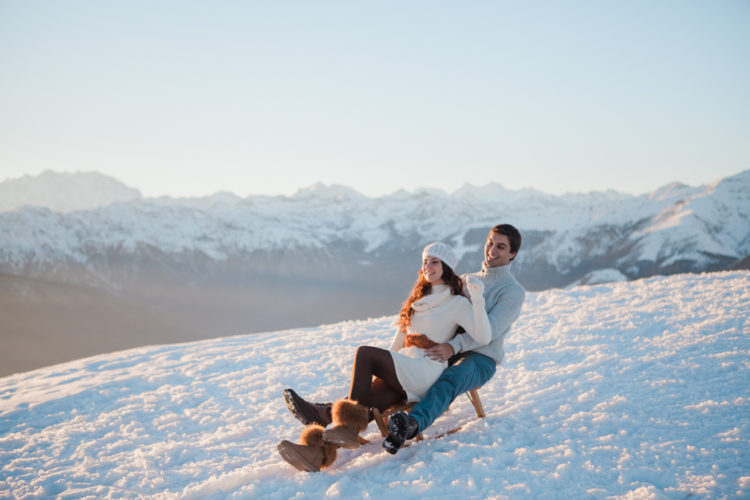Engagement session in the Italian Alps