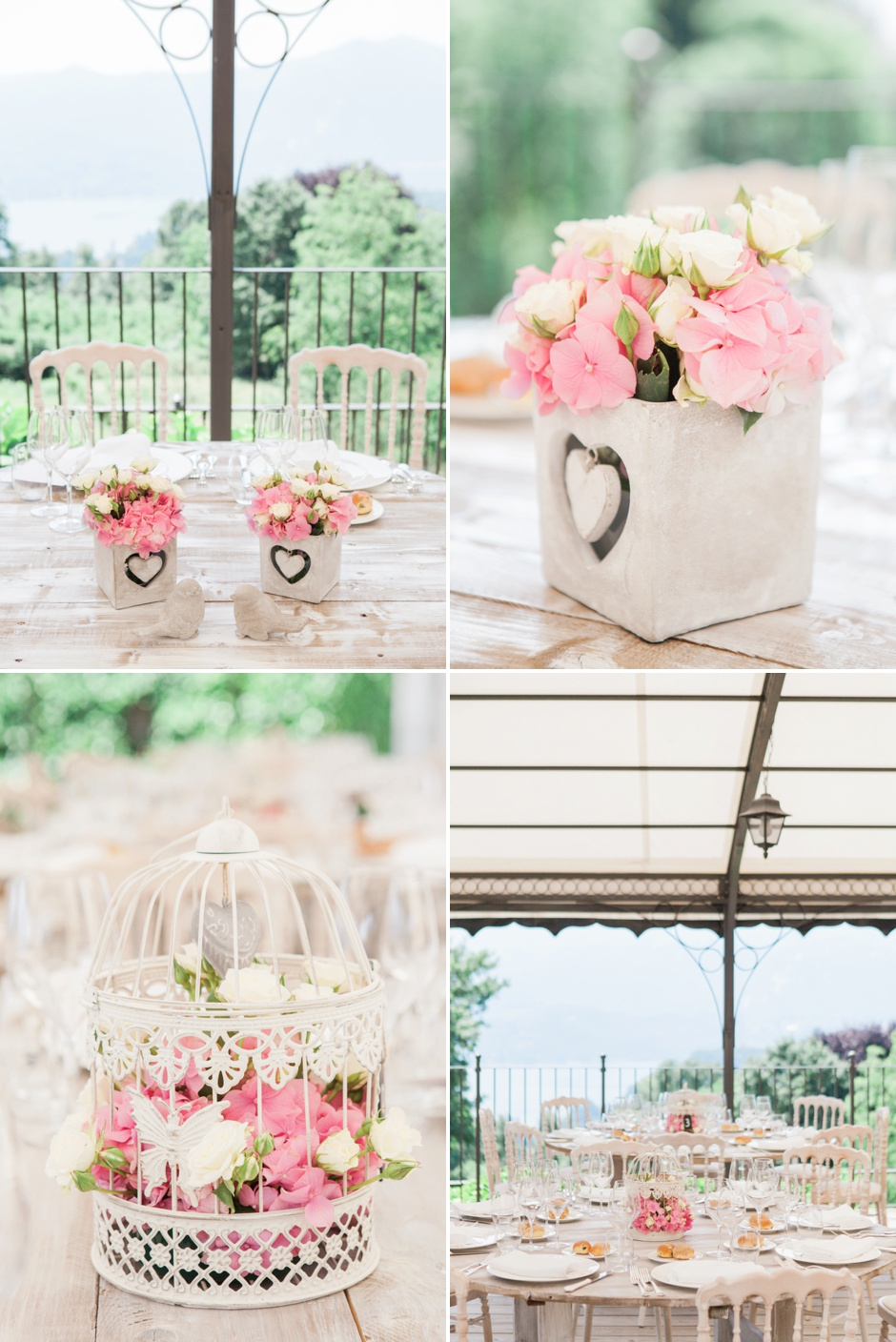 shabby chic wedding lake orta