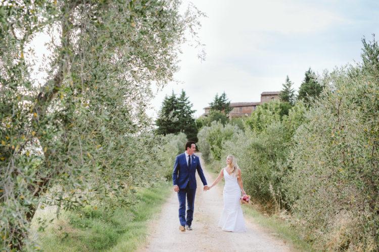 Matrimonio intimo in Toscana tra le colline del Chianti