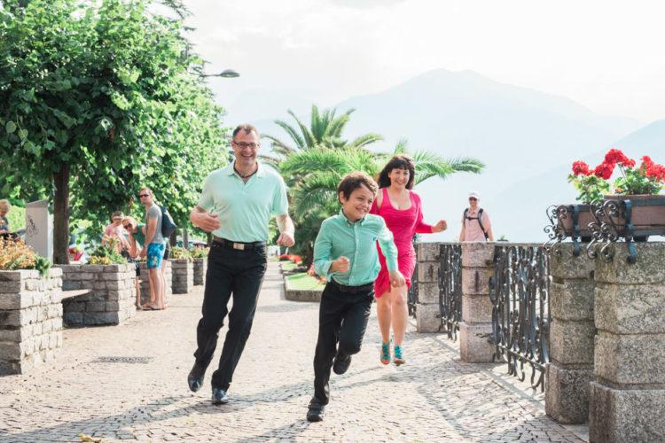 Family shooting on Lake Como