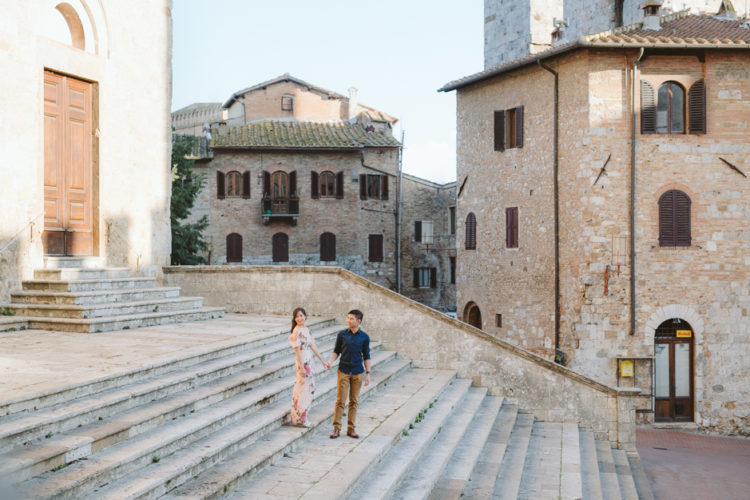 Fotografo Toscana   Engagement shooting a San Gimignano